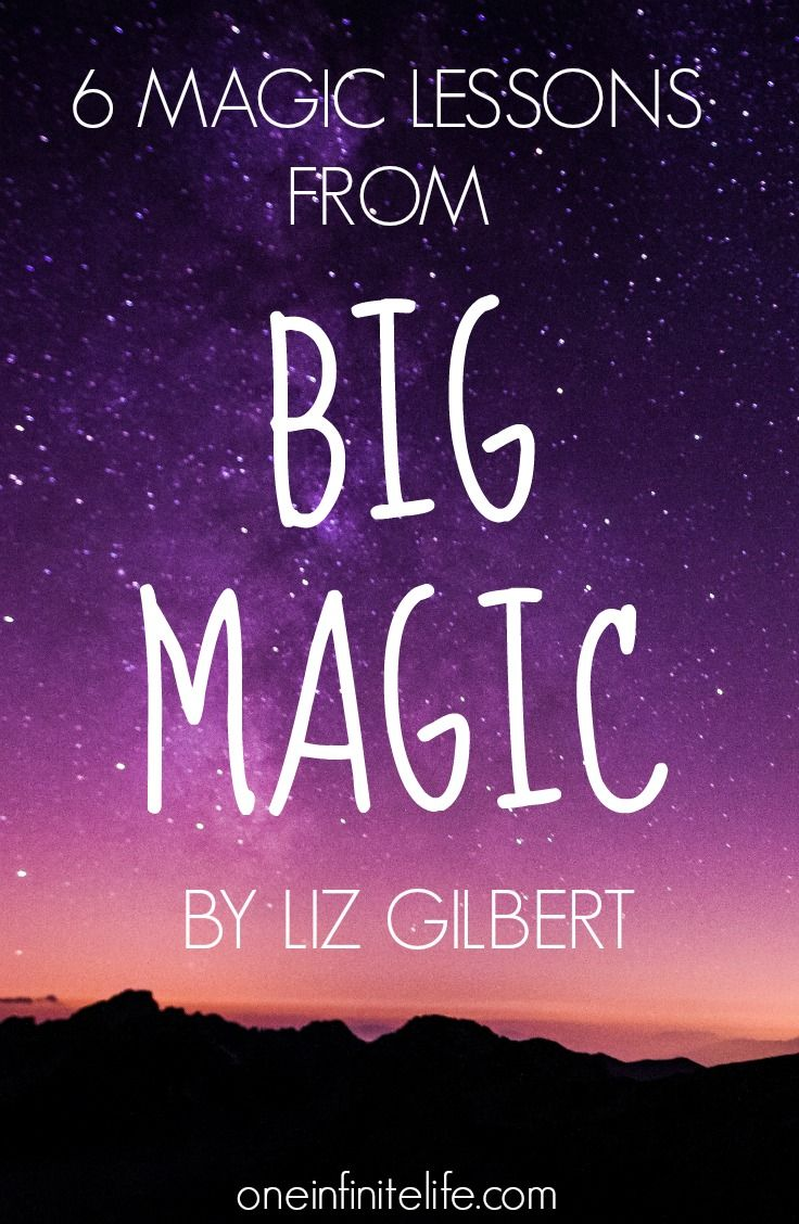 Big Magic by Elizabeth Gilbert is pure MAGIC, and a must-read for anyone who wants to live a more creative life, or do awesome things in their life, or just to show up in the world as their best self. Here are 6 magic lessons that have had the biggest impact on me big-magic-by-elizabeth-gilbert/