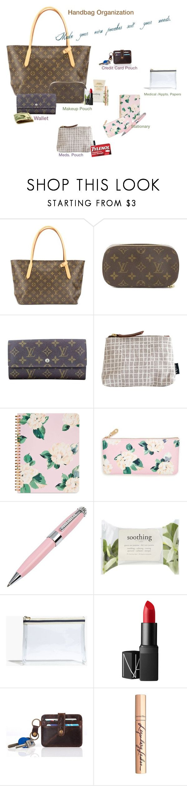 """""""Handbag Organization"""" by mom2017 ❤ liked on Polyvore featuring Louis Vuitton, Maika, ban.do, ICE London, Forever 21, Madewell, NARS Cosmetics and Charlotte Tilbury"""