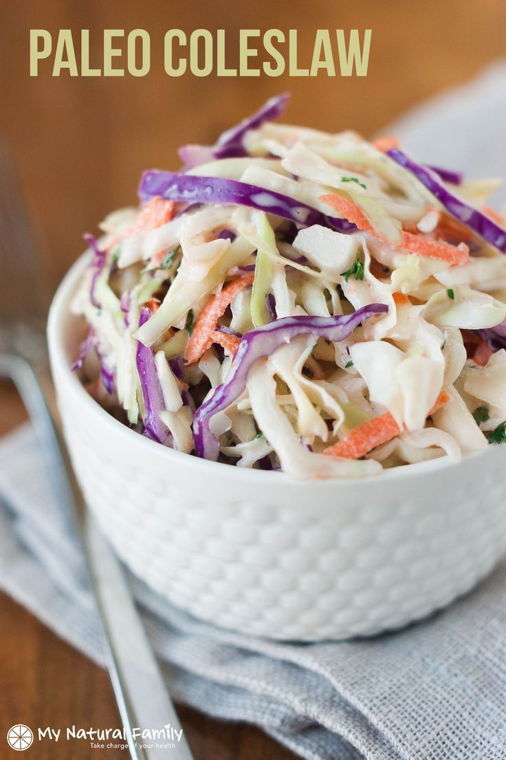 I really missed coleslaw when I first started eating Paleo so I developed this Paleo coleslaw recipe and I LOVE it. No offense, Grandma.