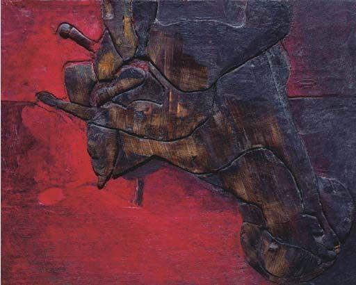 Lucio Muñoz.PinIt : Anónimo de Piedra