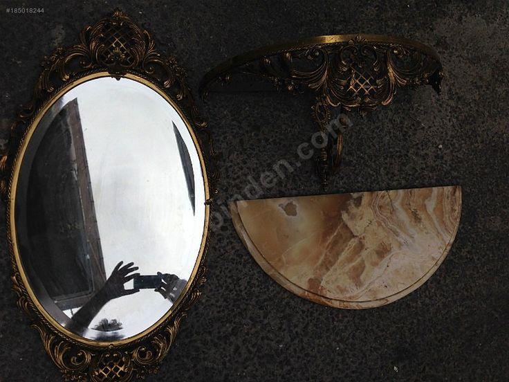 ANTİKA PİRİNÇ TIRNAK AYNA VE MERMER TELEFONLUK.... %100 ORJİNAL. - Antika Ayna ve Çeşitli Antika Dekorasyon Ürünleri sahibinden.com'da - 185018244