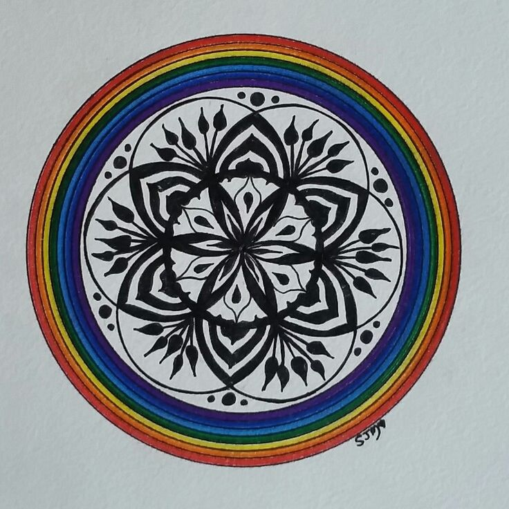 Day 2 #100mandalas  Pigment ink on paper. Original art #mandala created by Sharon Morgan