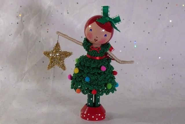 Christmas Clothespin Doll by creatingtreasures, via Flickr