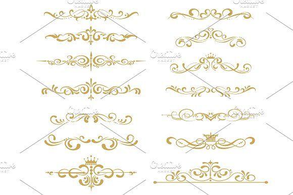 Gold decorative Elements for Your design. https://creativemarket.com/kio https://ru.fotolia.com/p/201081749 http://ru.depositphotos.com/portfolio-1265408.html
