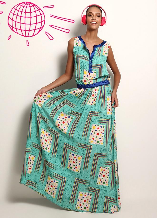 Jus De Pommes Puantiyeli uzun elbise Markafoni'de 249,99 TL yerine 49,99 TL! Satın almak için: http://www.markafoni.com/product/3520102/