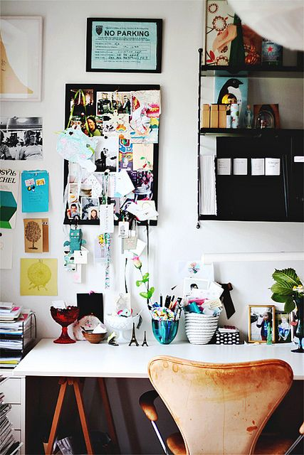 decor8 | what a great, neat, office space | never ever will I be this tidy