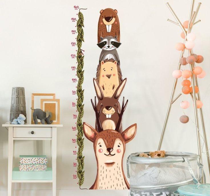 Sie wollen das #Wachstum Ihrer #Kinder im Auge behalten? Dekorieren Sie das #Kinderzimmer doch mit unserem #Wandtattoo #Waldtiere #Messlatte. Die Messlatte reicht von 20cm bis zu einer Größe von 160cm. #tenstickers                                                                                                                                                                                 Mehr