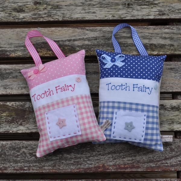 We just love these beautifully handmade 'Tooth Fairy Pillows'.