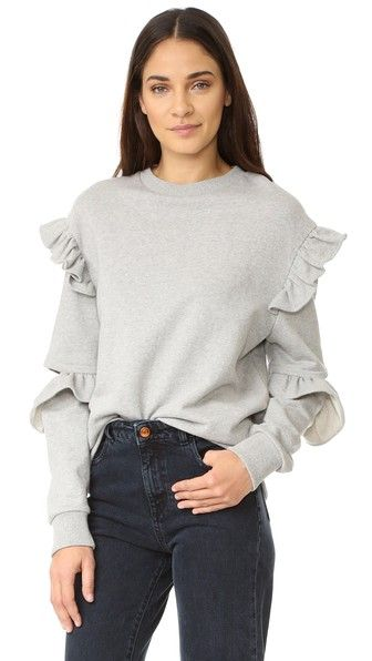 SJYP Sleeve Slit Frill Sweatshirt