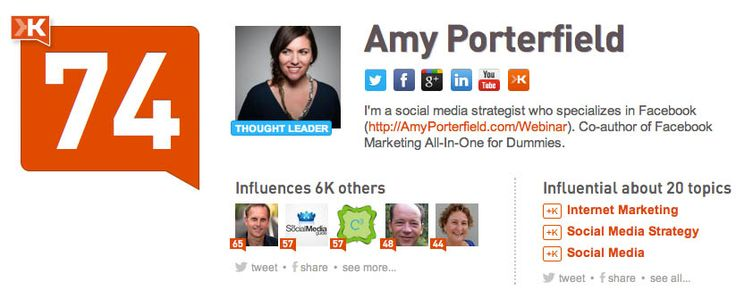 @Amy Porterfield: I'm a social media strategist who specializes in Facebook (http://AmyPorterfield.com/Webinar). Co-author of Facebook Marketing All-In-One for Dummies