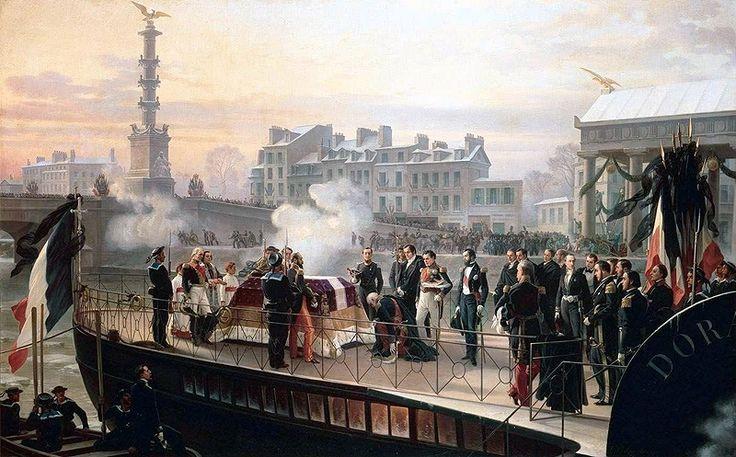 """""""Arrivée des cendres de Napoléon à Courbevoie. 14 décembre 1840"""", Henri-Félix-Emmanuel Philippoteaux"""