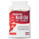 Antarctic Krill Oil (Euphausia superba) is a pure and natural source of high concentration omega 3 oil, the powerful antioxidant astaxanthin, as well as high levels of phospholipids - a fundamental component of human cell membranes.  Krill oil is used for the same reasons as cod liver oil, flax oil and other omega 3 fatty acids, but is often favoured because it doesn't cause fishy burps or an after-taste - a common side effect of fish oil.