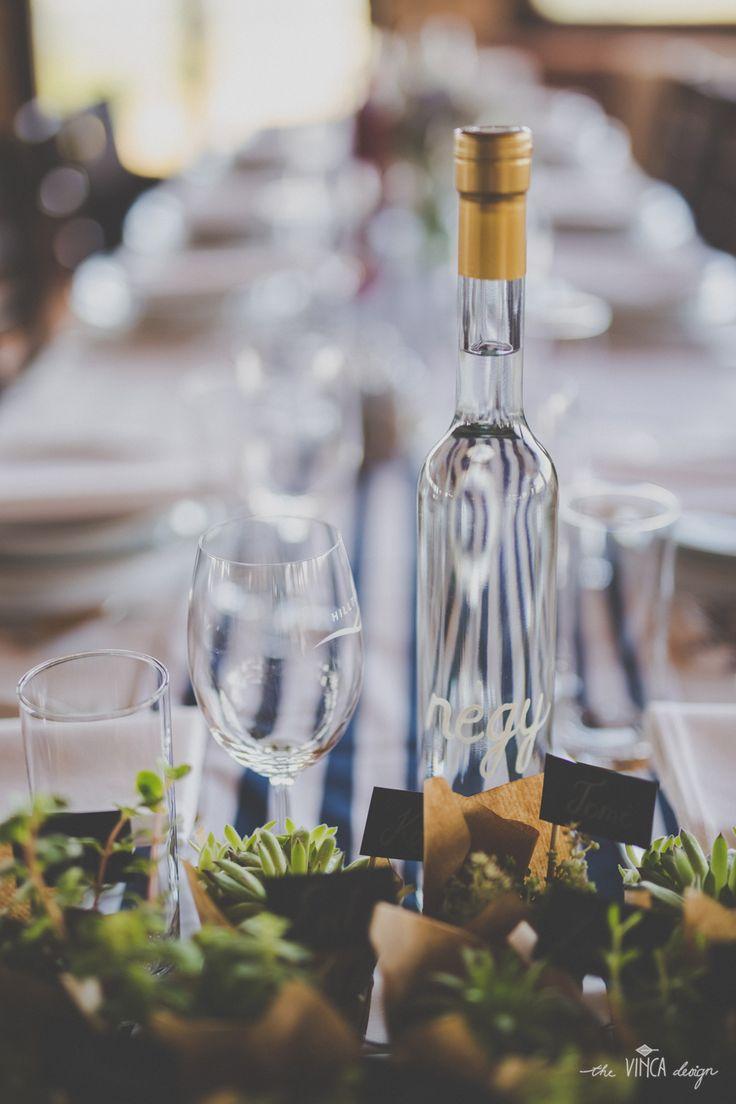 Vinca Design, France inspired wedding, table number // francia esküvő, asztalszámozás