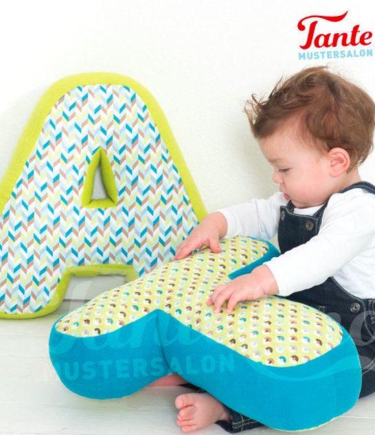 Buchstaben-Kissen nähen für Babys und Kinder – S…