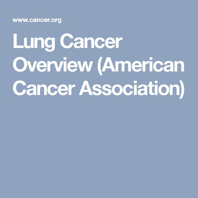 Lung Cancer Overview (American Cancer Association)