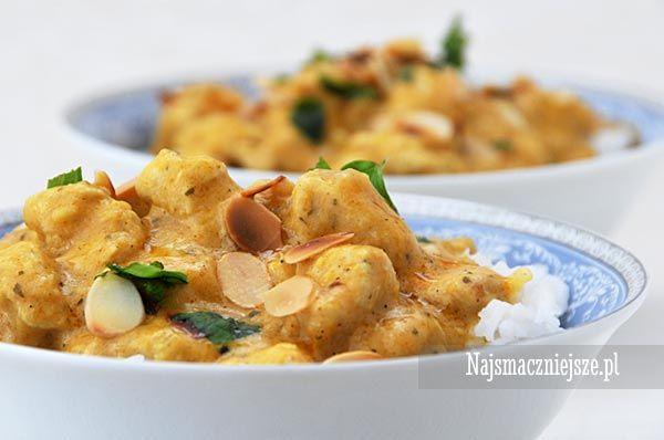 Kurczak w kokosowym sosie z kolendrą, Pierś kurczaka w sosie curry, danie indyjskie, najsmaczniejsze.pl #food #obiad