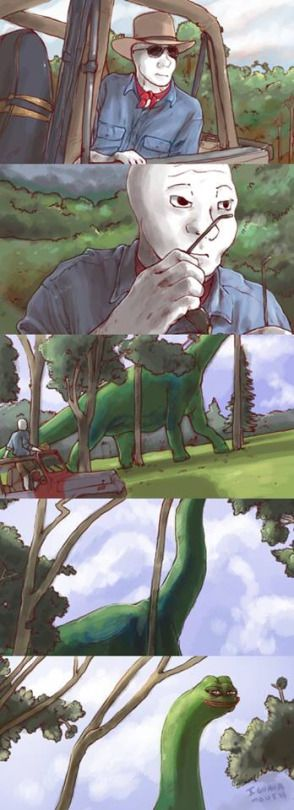 OH MY GOSH I LOVE THIS ITS LIKE JURASSIC PARK BUT WITH MEMES 2 OF MY FAVORITE THINGS