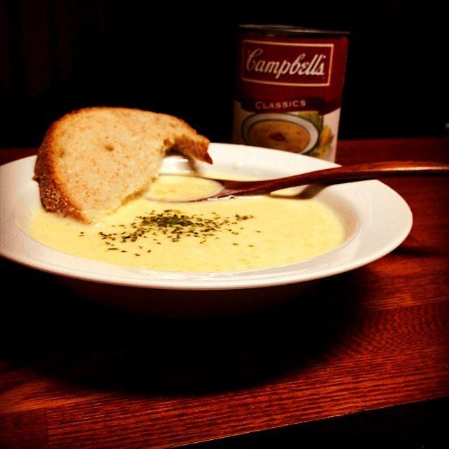 キャンベルのおいしいですよね〜♥ - 105件のもぐもぐ - Corn soup  コーンスープ by centralfields