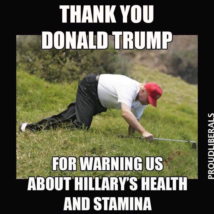 Thank you Donald Trump for warning us about Hillary's health & stamina