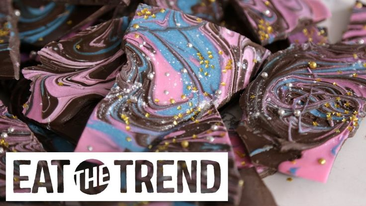 Galaxy Chocolate Bark | Eat the Trend - YouTube