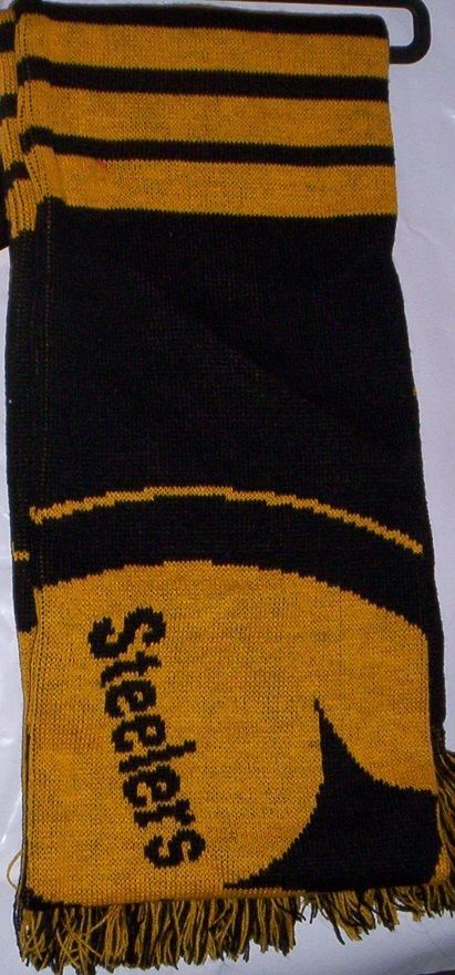 "Pittsburg STEELERS Warm Winter Neck Scarf NeW 60"" x 6"" Long Large LOGO Football  #ForeverCollectibles #Scarf"