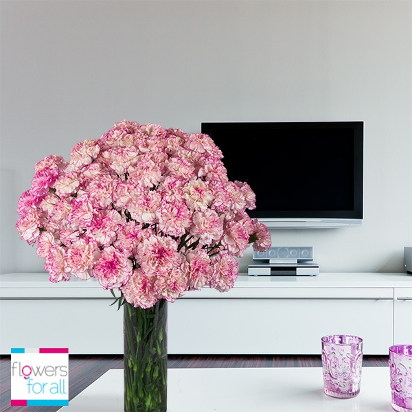 Carnations are sometimes overvalued but you can make wonderful arrangements with them. At Flowersforall.com we have beautiful tones that will amaze any guest!