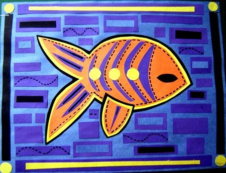 Making a Mola With Fabric and Fusible Web : Art in the School