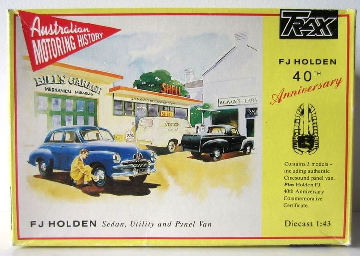 HOLDEN FJ UTE VAN SEDAN model 1/43 Trax diecast triple set TRS1 40th Aniversary #TOPGEARTRAX #HOLDEN