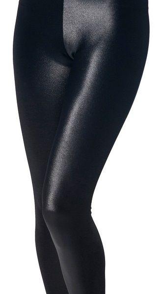 Wet Look Black Leggings RRP $45