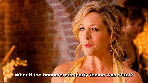 Pin for Later: Bachelorette Party Dos and Don'ts in GIFs Do Be Open-Minded on the Theme