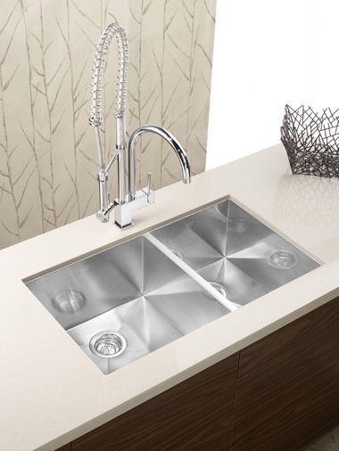 The PRECISION Undermount Line Of Sinks By BLANCO Is Handcrafted From 18  Gauge Premium Stainless Steel And Contains Chrome Nickel Content For  Superior ...