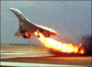 The beginning of the end for Air France Concorde came at Paris Charles de Gaulle airport on 25 July 2000. The crash killed 113 people.