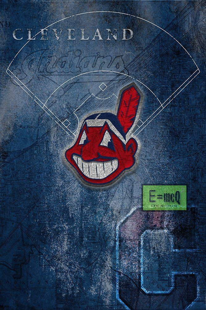 Cleveland Indians Poster 2, Cleveland Indians Artwork Gift, Indians In                      – McQDesign