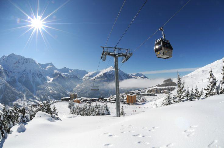 Orcières Merlette 1850 : le #soleil des Hautes-Alpes sur l'enneigement privilégié du massif des Écrins - Photo © Gilles Baron