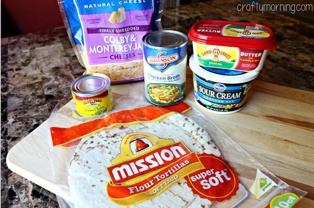 White Chicken Enchilada Recipe (Chile & Sour Cream Sauce) - Crafty Morning