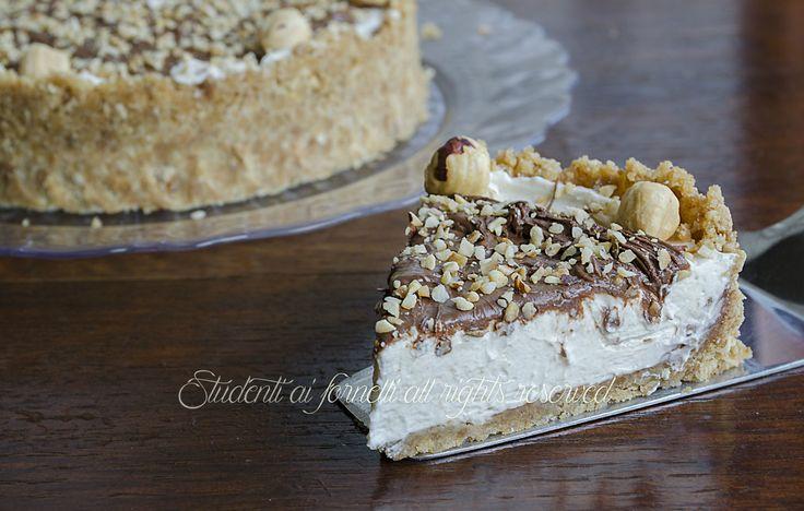 crostata fredda alle nocciole con nutella e mascarpone ricetta torta fredda senza cottura e senza colla di pesce