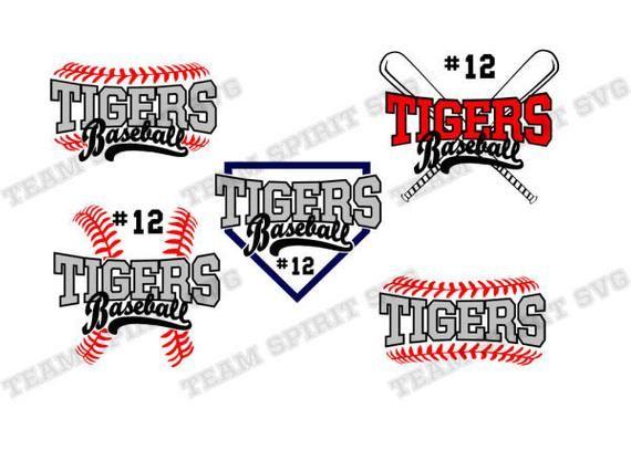 Tigers Baseball SVG Tiger Tshirt For the Love Dad Heart Mom Little League Kids svg cut file cricut htv silhouette tshirt vinyl clipart
