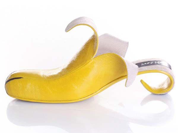 Crazy shoes design, banana