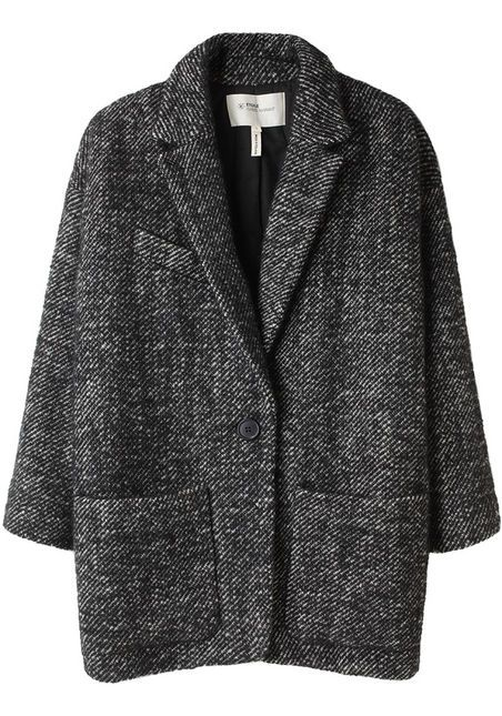 ng neutral that flatters all skin tones: a gorgeous textured grey tweed. exactly what is missing from my small collection of coats and jackets. i had a blazer in this tweed from H&M some years ago, but it was a bad poly/wool blend and the fit was wonky.