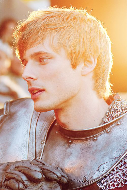 Bradley James as Arthur in my favorite series, BBC Merlin. He switches between protagonist and antagonist seamlessly, making you both love and hate him.