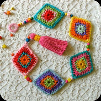 "A ""Shine Bright Like A Diamond"" hanging decoration, wall decoration. PDF Crochet Pattern by Mackenziepatterns on Etsy https://www.etsy.com/listing/205354690/a-shine-bright-like-a-diamond-hanging"
