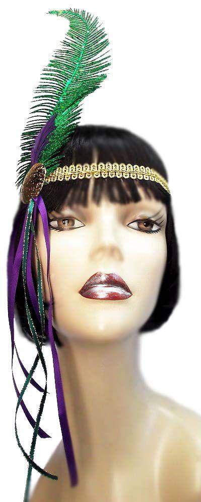 Mardi Gras Jewel Roaring 20's Flapper Gatsby by JenkittysCloset, $20.00