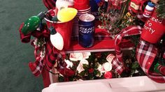 Recreate this look from Adlers showroom.  Use a cooler and fill it with lights/glass beer cans