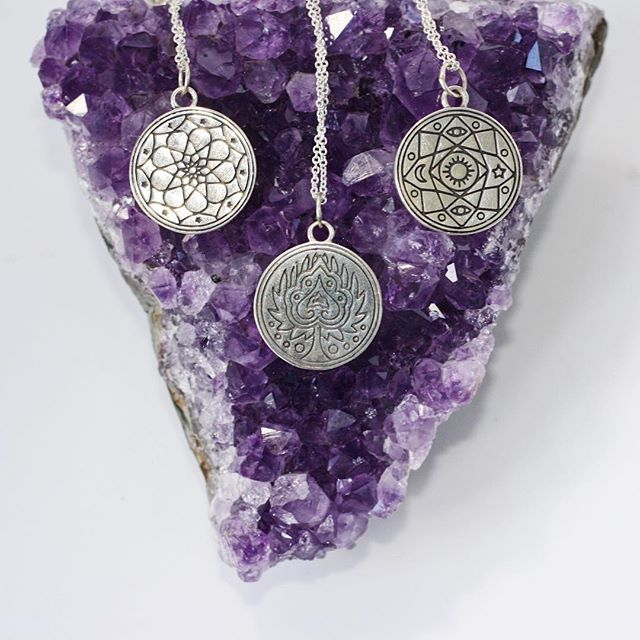 'Master Magnetism' + 'Breathe in the Love' + 'Consciously Complete'  What's your Mantra? #TFEL #thefifthelementlife #jewellery #sterlingsilver #mandala #amethyst #crystal