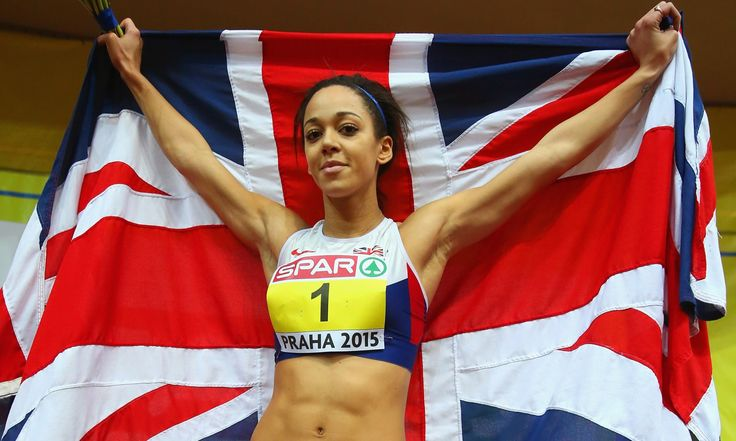 Katarina Johnson-Thompson has won gold in the pentathlon at the European Indoor Championships in Prague but just missed out on setting a new world record