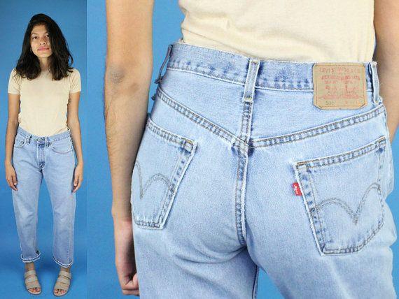 "Vintage Levis 505 Straight Size 29"" Jeans Distressed Vintage Levis Jeans Levis 505 Jeans Light Wash Distressed Size 29 Jeans Levi 505 by DiveVintage from Passport Vintage. Find it now at http://ift.tt/2dXK6kC!"