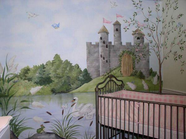17 best ideas about castle mural on pinterest princess for Castle mural wallpaper
