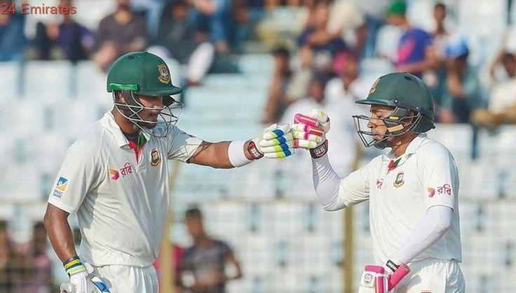 Bangladesh 'Tigers' fight back despite Lyon's five wickets