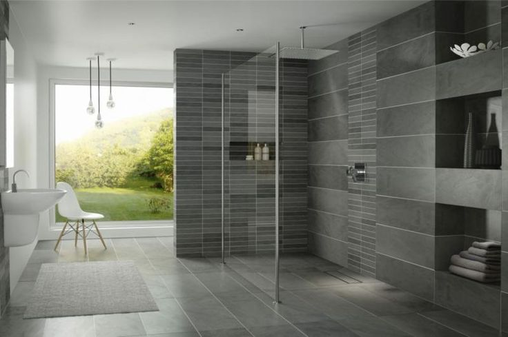 Interior Elegant Open Shower Small Bathroom Design With Excellent Shower Area With Glasses Wall Stunning Dark Porcelanosa Faucets Lovely White Chair Modern Bathroom Vanity Lighting Glamorous White Interior Contemporary Small Bathroom Vanities