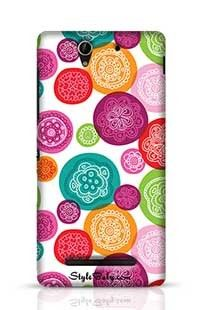 Flower Pink Red Retro Background Pattern Sony Xperia C3 New Phone Case